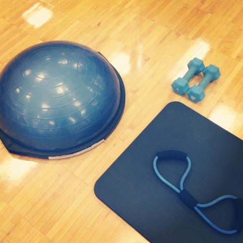 Blue equipment